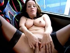 la copine anglaise dans le bus