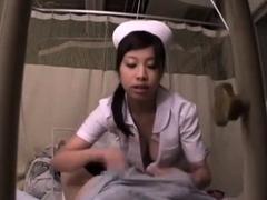 Nasty asian giving handjob sex and taking oral cumshot