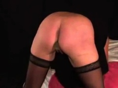 Milf's ass punished with the cane