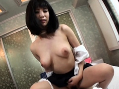 Cute Asian with nice tits gets stuffed