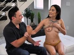 Petite Babe Jazmin Luv Rides Her Teacher's Cock