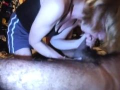 Amateur girl milks prostate blowjob sucks head swallows cum