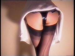 Latex Corset And Miniskirt