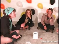 College Cuties Playing Truth Or Dare Sexgames